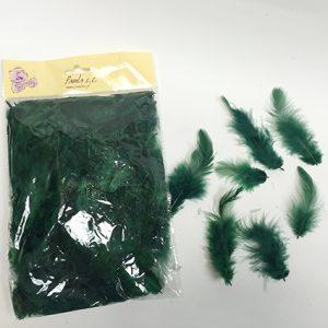 12359 Перья цветные 9см зеленый