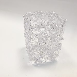 14081 Кашпо Ледяной узор прямоугольное, пластик