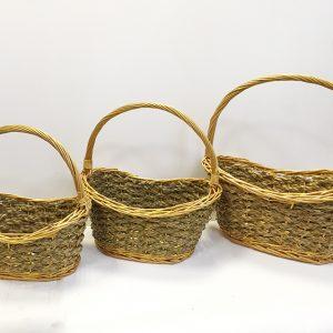 13502 13503 13504 Корзина плетеная ива натуральный