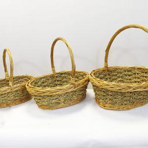 13505 13506 13507 Корзина плетеная ива натуральный