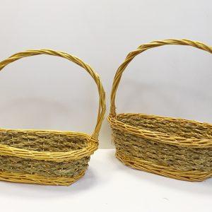 13508 13509 Корзина плетеная ива натуральный