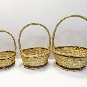 13518 13519 13520 Корзина плетеная ива натуральный