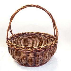 13522 13523 Корзина плетеная ива коричневый