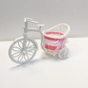 11436 Кашпо ВелосипедКоляска плетеный,