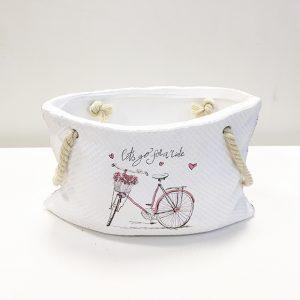 13784 Кашпо с ручками овал рис. велосипед