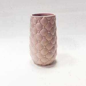 14286 Ваза керамическая Французская рошель, цв.розовый