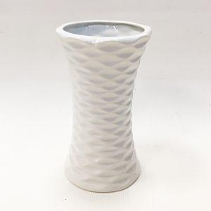 14287 Ваза керамическая Талия 1735х10см, цв. белый