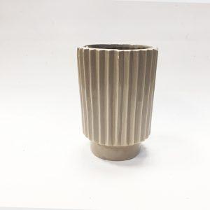 14289 Ваза керамическая Фринж, цв. бежевый