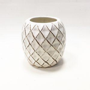 14290 Ваза керамическая Бухара, цв. белый