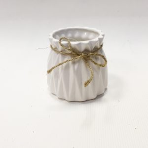 14291 Ваза керамическая Фаворит, цв. белый