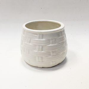 14296 Ваза керамическая Лоза цв. белый