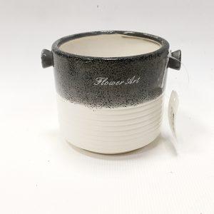 14297 Ваза керамическая Арт, цв. бело-серый