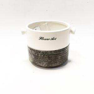 14298 Ваза керамическая Арт, цв. серо-белый