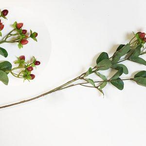 14413 Ветка Зверобоя 63см, цв. бордовый
