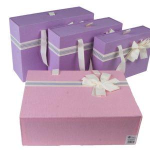 Коробка-сумка сиреневый