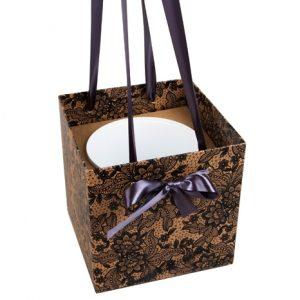 Коробка-ваза Кружево с пластиковой вставкой