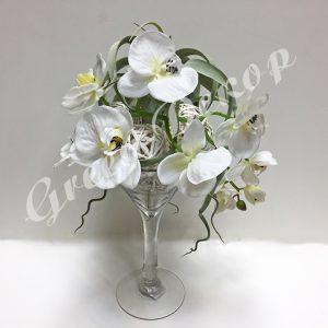 Композиция с орхидей в вазе Мартинница